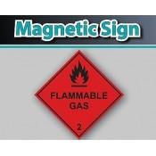 Magnetic Hazard Warning Diamond Labels (8)