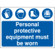 PPE Personal Protective Equipment Safety Signs