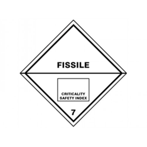 fissile 7 hazard warning diamond label pack of 10 hazard