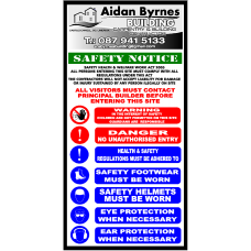 Site Safety Notice & Company Advertising