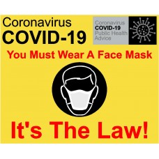 Wear a face mask - It's the law Sign