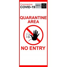 Cronavirus Covid-19 Quartine Area No Entry Pop-up Banner