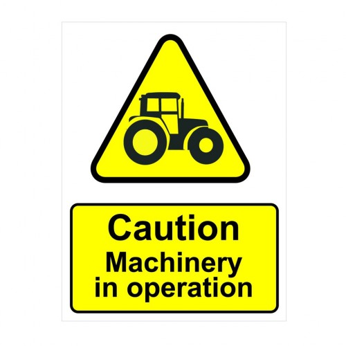 PVC Stickers //Adhesive Warning Agricultural Machinery Operating Safety Signs