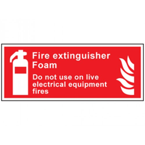 Fire Extinguisher Foam Do Not Use On Live Electrical Equipment