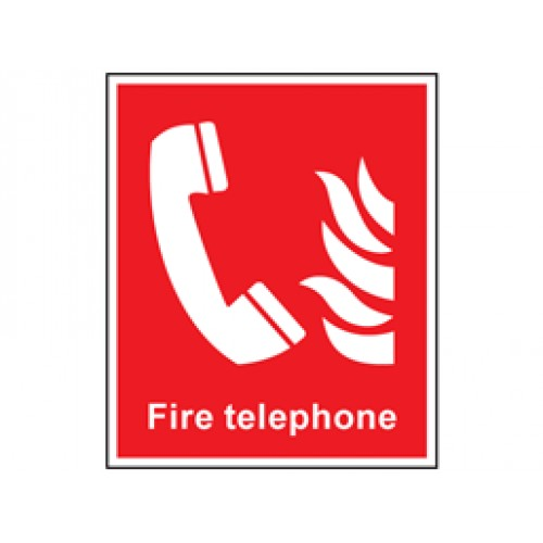 Fire Telephone Symbol And Text Safety Sign Fire Equipment