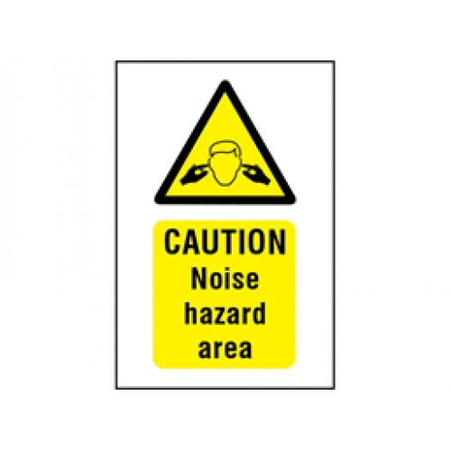 Caution noise hazard area symbol and text safety Sign  -