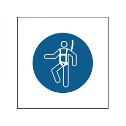 Wear Safety Harness Symbol Safety Sign Body Protection
