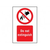 Fire Risk Prohibition Safety Signs (0)